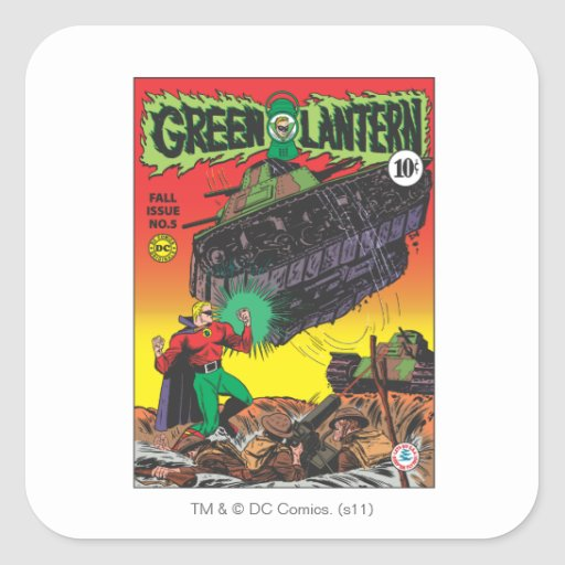 Green Lantern in the trenches Sticker