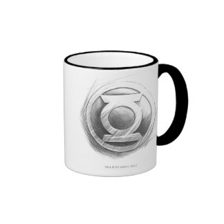 Green Lantern Insignia Ringer Coffee Mug