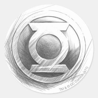 Green Lantern Insignia Round Sticker