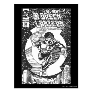 Green Lantern - It all begins here, Black and Whit Post Cards