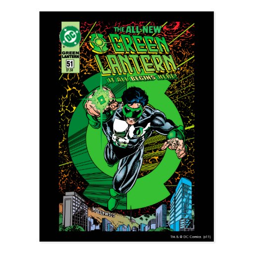 Green Lantern - It all begins here Post Cards