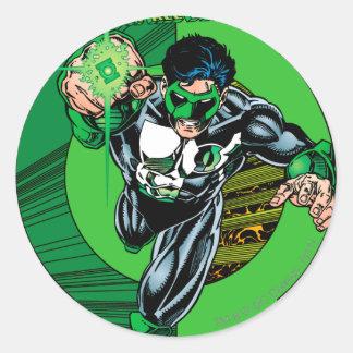 Green Lantern - It all begins here Round Sticker