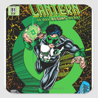 Green Lantern - It all begins here Square Sticker
