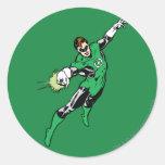 Green Lantern Jump Round Sticker