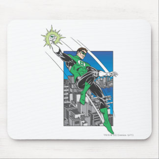 Green Lantern Lands in City Mouse Pad