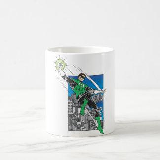 Green Lantern Lands in City Basic White Mug
