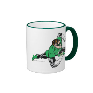 Green Lantern Leap Right Ringer Coffee Mug