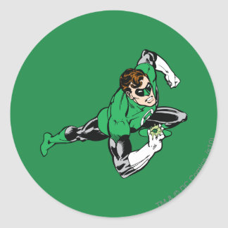 Green Lantern Leap Right Round Sticker