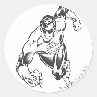 Green Lantern Leaps Forward Round Sticker