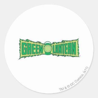 Green Lantern Letters 1 Round Sticker