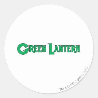 Green Lantern Letters 2 Round Sticker
