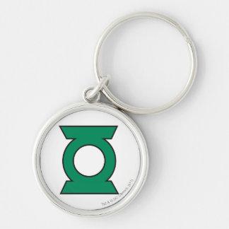 Green Lantern Logo 15 Silver-Colored Round Keychain