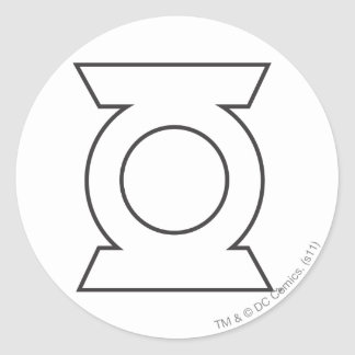 Green Lantern Logo 16 Round Sticker
