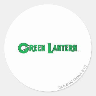 Green Lantern Logo 9 Round Sticker