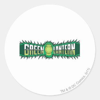 Green Lantern Logo - Green Flames Round Sticker