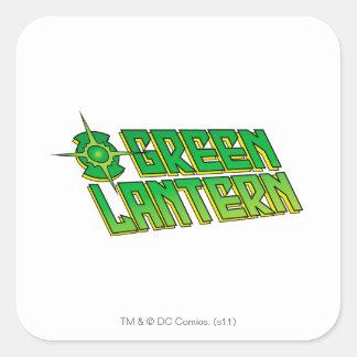 Green Lantern Logo - Slanted Square Sticker