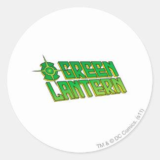 Green Lantern Logo - Slanted Classic Round Sticker