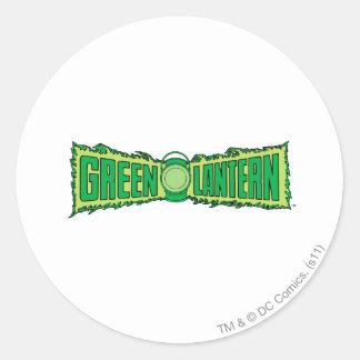 Green Lantern Logo with Lantern Round Sticker