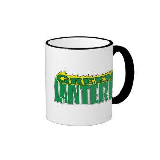 Green Lantern Logo - Yellow Flames Ringer Mug