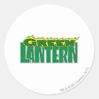 Green Lantern Logo - Yellow Flames Round Sticker