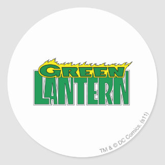 Green Lantern Logo - Yellow Flames Classic Round Sticker