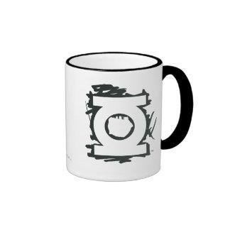 Green Lantern Marker Symbol Ringer Mug
