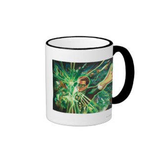 Green Lantern Painting Ringer Coffee Mug