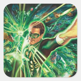 Green Lantern Painting Square Sticker