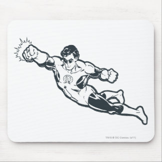 Green Lantern Punches BW Mouse Pad