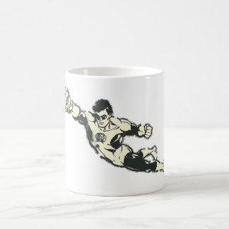 Green Lantern Punches Grunge Coffee Mug