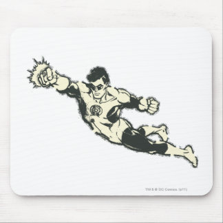 Green Lantern Punches Grunge Mouse Pad