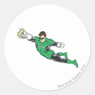 Green Lantern Punches Round Sticker