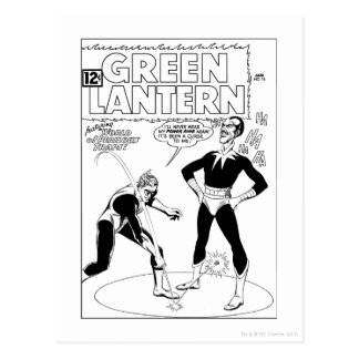 Green Lantern Removes Ring, Black and White Post Cards