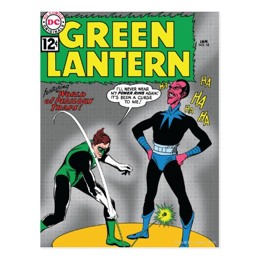 Green Lantern Removes Ring Postcard