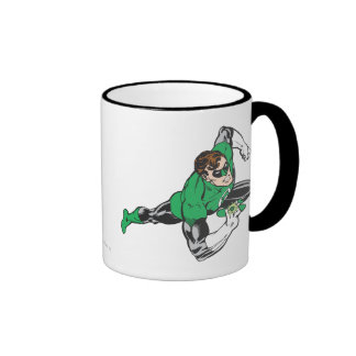 Green Lantern Runs Ringer Coffee Mug