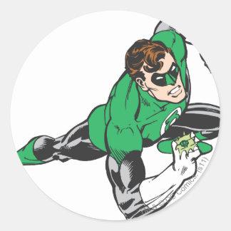 Green Lantern Runs Round Sticker