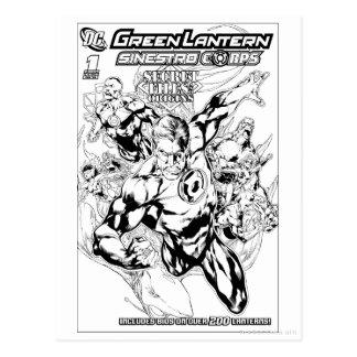 Green Lantern - Secret Files and Origins Cover, Bl Postcard