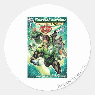 Green Lantern - Secret Files and Origins Cover Round Stickers