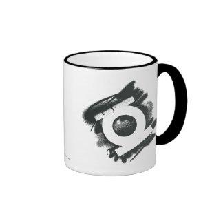 Green Lantern Spray Symbol Ringer Mug