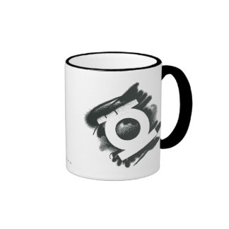 Green Lantern Spray Symbol Ringer Coffee Mug