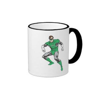 Green Lantern Squats Ringer Coffee Mug
