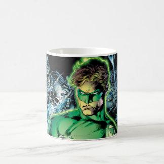 Green Lantern Surrounded - Color Basic White Mug