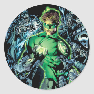 Green Lantern Surrounded - Color Round Sticker