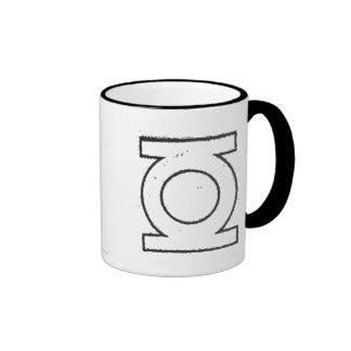Green Lantern Symbol BW Ringer Coffee Mug