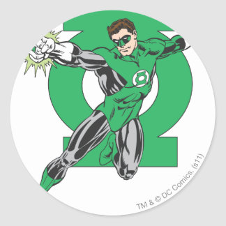 Green Lantern & Symbol Round Sticker