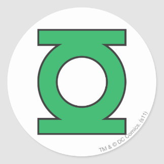 Green Lantern Symbol Round Sticker