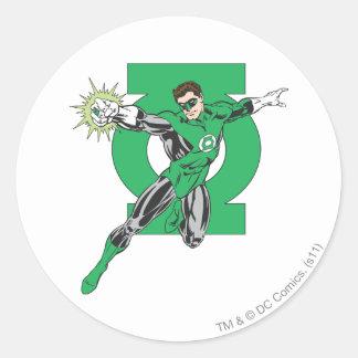 Green Lantern & Symbol Round Sticker