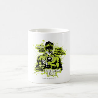 Green Lantern Text Collage - Color Classic White Coffee Mug