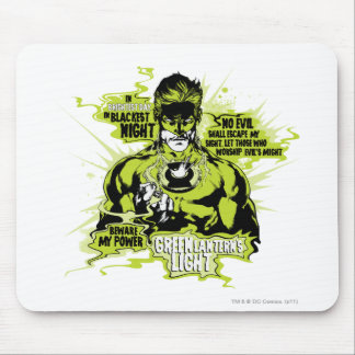 Green Lantern Text Collage - Color Mouse Pad