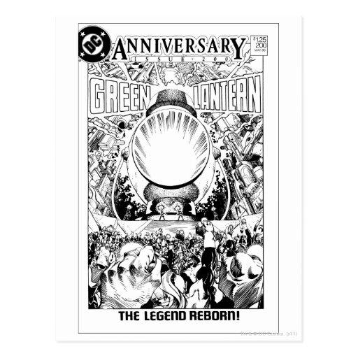 Green Lantern - The Legend Reborn, Black and White Postcard